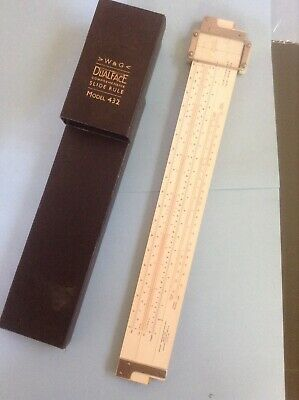 W and G Vintage Slide Rule Dualface Comprehensive Model  432
