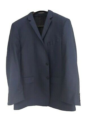 Mens Versace Blue Pinstripe Jacket