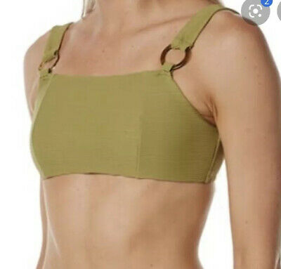 Zulu And Zephyr Olive Green Easterly Bralette - Size 8- RRP-$160