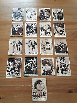1966  ' The Monkees ' Trading Cards- Raybert Prod. Inc. X 16. All Different.