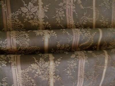 "Antique French Regency Design Fabric 100"" long x 44"" wide"