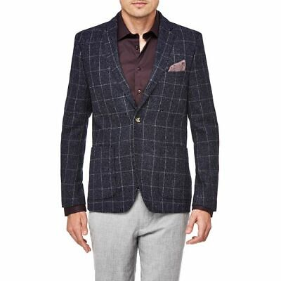Men's BNWT small slim fit POLITIX check blazer - RRP $250+