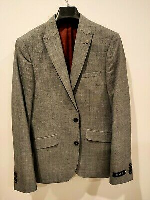 Men's BNWT small slim fit light grey BURTON blazer