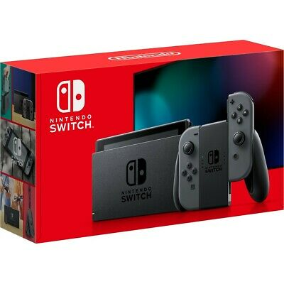2019 Nintendo Switch Grey Console + Animal Crossing