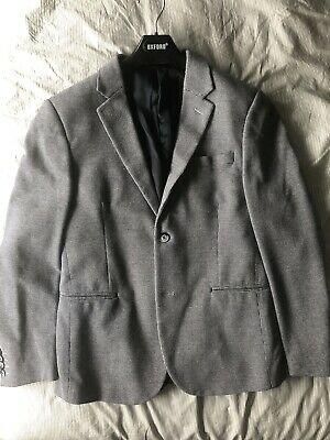 Devils Advocate Cotton Blazer Blue Size 40 Worn Once