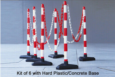 Plastic Chain Post Set Parking Post Safety Warning Sign Security Barrier