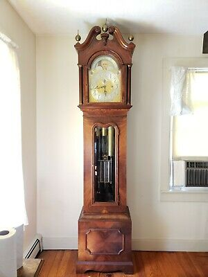 """Rare Antique Waltham 5 Tube 8 Day """"Waltham Watch Co"""" Grandfather Tall Clock"""