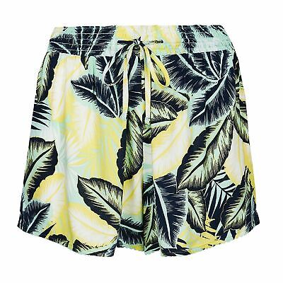 Women/'s Beach Shorts Soft Marks and Spencer Patterned Elastic Waist Size 14