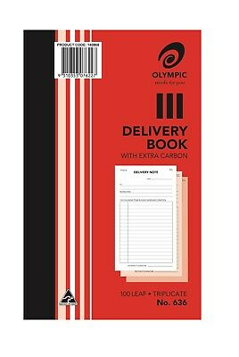 Olympic Delivery Book 100 Leaf Triplicate No. 636 With Extra Carbon (140868)