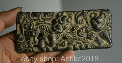 12cm Antique Old Chinese Bronze Dynasty Animal People Beast Pendant Brand