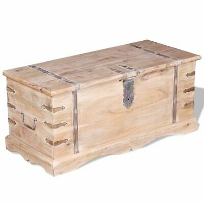 vidaXL Storage Chest Wooden Trunk Storage Box Coffee Side Table Acacia Wood~