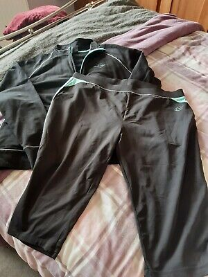 Next Sport Cropped Leggings And Zip Up Top Size 18/20
