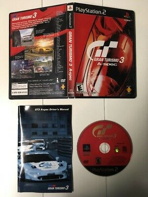 Gran Turismo 3 A-spec (PS2, 2001) Not For Sale Copy Near Mint Complete 132 SHIP