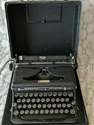 Heier Office Machine Co Royal Portable Typewriter Vintage Benton Harbor Michigan