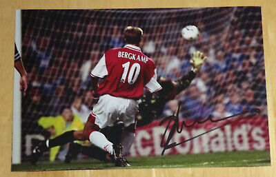 Dennis Bergkamp Arsenal Personally Hand Signed Autograph 12X8 Photo