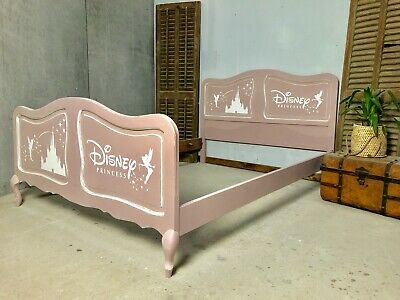Vintage French Double size bed/ Painted French bed shabby chic style / Princess