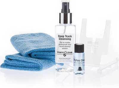 Vinyl Record Restoration & Cleaning Fluid Kit 150ml - with Microfibre Cloths.