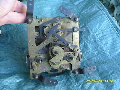 Clock Parts  Striking Movement  93Mm X 99Mm  Made In England Springs  Ok