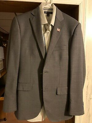 Mens Pronto Uomo 38R 2 Button Suit and Pants and Banana Republic Shirt