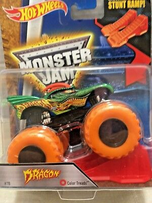 Hot Wheels Monster Jam Dragon 07 With Orange Ramp 2016 New 9 99 Picclick