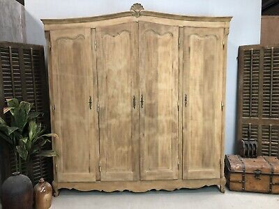 Sandblasted Vintage French Oak Wardrobe / Armoire/ Shabby chic style /