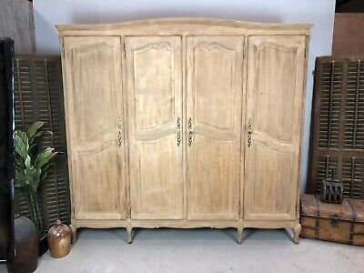 Sandblasted Vintage French Oak Wardrobe/ Armoire/ Shabby chic style