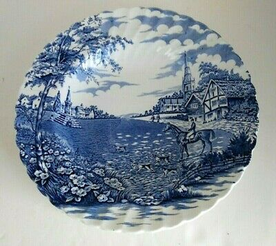 Vintage Village Green By British Anchor Blue And White England