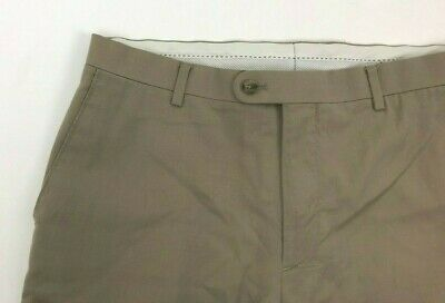 Joseph Joe Abboud Dress Pants Flat Front Beige Lightweight Wool Mens 35 x 34