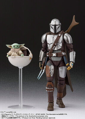 SH Figuarts Star Wars The Mandalorian 150mm movable figure from japan F//S Pre