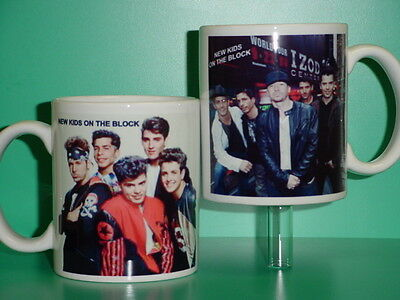 NEW KIDS ON THE BLOCK - with 2 Photos - Designer Collectible GIFT Mug