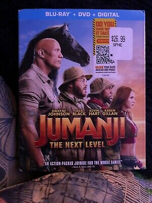 Jumanji: The Next Level (Blu-ray Disc & DVD) with Slipcover