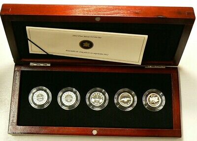 2012 Canada Farewell to the Penny 5 Silver Coin Set with Box & CoA #5920
