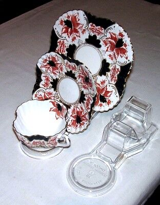 4  Cup, Saucer And Plate Display Stands- Australian Made