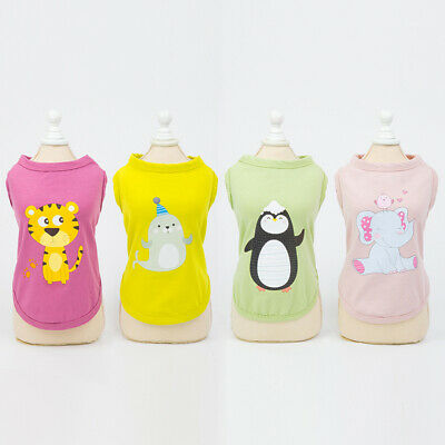 Fashion Dog Vest Clothes Spring Summer Puppy Clothing Cartoon Print Tops Outfit