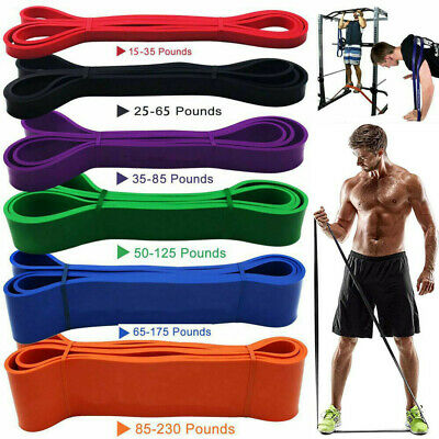Resistance Loop Bands Long Band Exercise Crossfit Strength Power Fitness GYM AU
