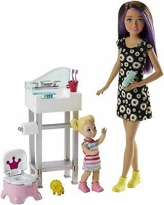 Barbie Skipper Babysitters Playset With Toddler Doll & Potty Training MultiColor
