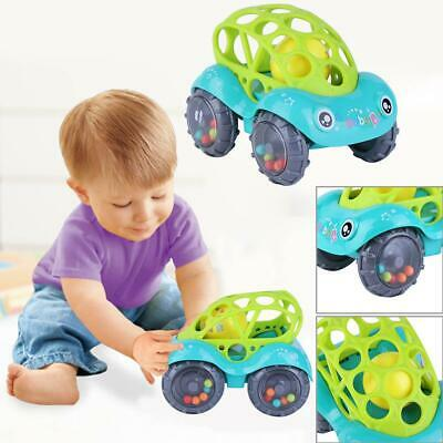 Baby Kids Child Toy Inertial Minibus Oball Ball Rattle Car Roll Infant Teething