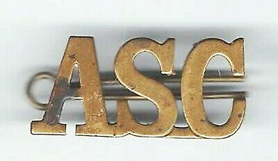 ARMY SERVICE CORPS badge ASC with pin