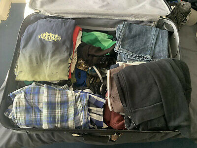 40+ Pieces Mens Boys Clothing Size S Small Job Lot (Superdry, Hollister, Levis)