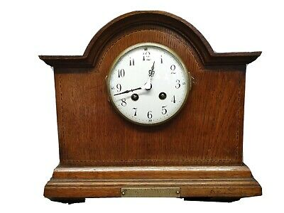 Antique French Japy Freres Mantle Clock with Strike, Military Medal Presentation