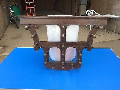 Antique Vintage Wooden Coat Hat/ Rack