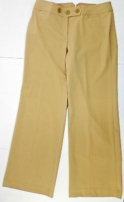ATL Ann Taylor Loft NWT Tan Julie Wide Dress Pants Sz 8 Inseam 32 #404