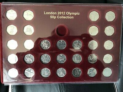 2012 London Olympic 50p Fifty Pence x 29 Coins - FULL SET