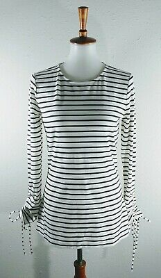 Ann Taylor Women's Blouse Black Scrunched Sleeves Size M, NWT! $49