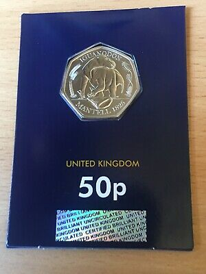 Iguanodon 50p 2020 Rare Uncirculated Coin, plus a chance of winning scratchcard