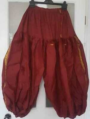 gorgeous RUST BAGGY BELLY DANCE BALLOON PANTS PANTALOONS ATS HAREMS free size