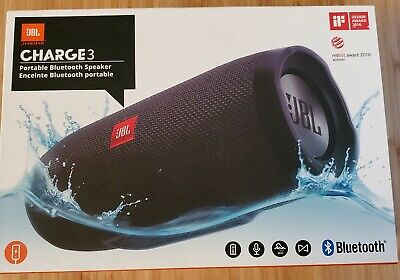 JBL Charge 3 - Portable Bluetooth Speaker and Charger - Black, Unopened