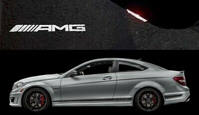 Amg Logo Under Door Puddle Led Projector Ghost Lights Mercedes Benz C Class W204