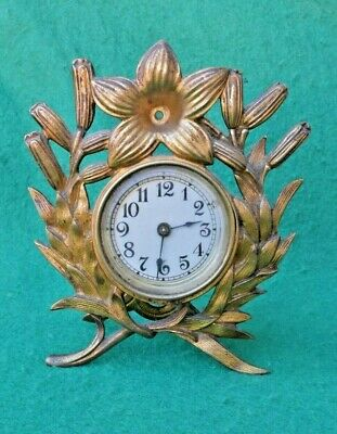 Small Brass Mantel Clock,The British United Clock Co Ltd. For Spares / repair