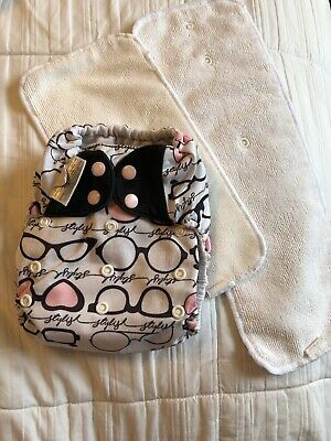 Bumgenius 4.0 One Size OS Pocket Cloth Diaper W/ Inserts Limited Edition Audrey